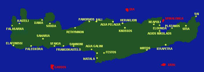 mapa creta