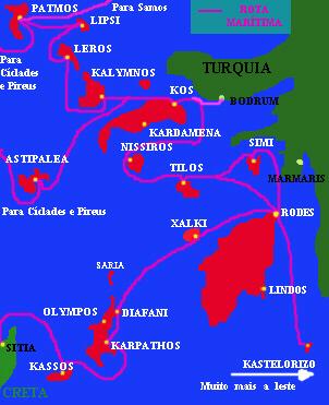 mapa dodecaneso