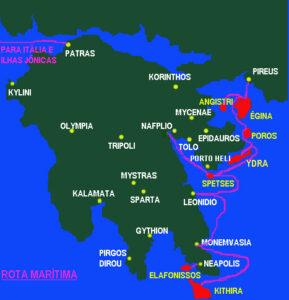 mapa peloponeso