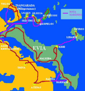 mapa sporades